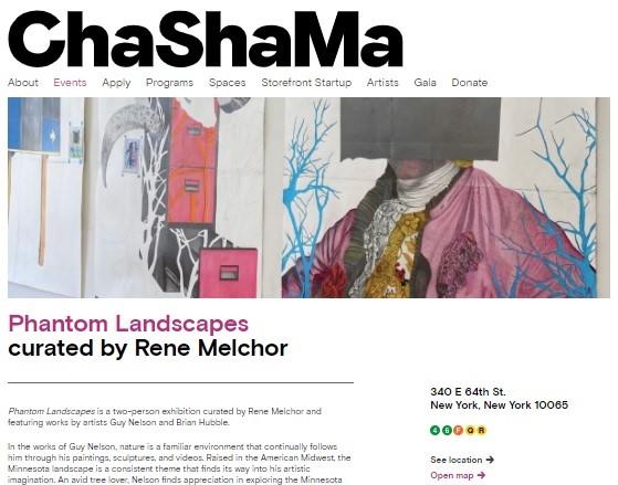 ChaShaMa Exhibition Landscapes